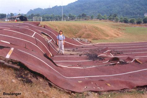 earthquake track surface rupture taiwan geotechnical photo album