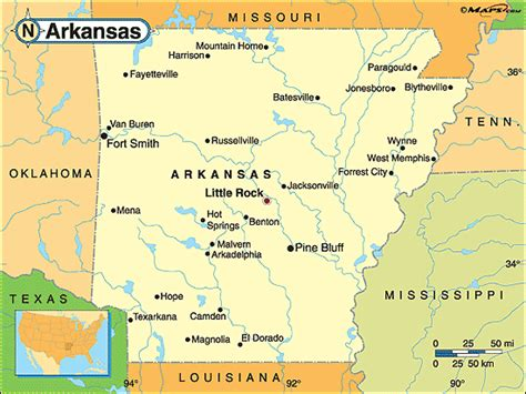 us map showing arkansas obryadii00 map of arkansas with cities