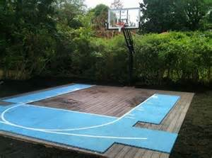 Backyard Basketball Court Size by Flex Court Sport Courts Landscaping Network