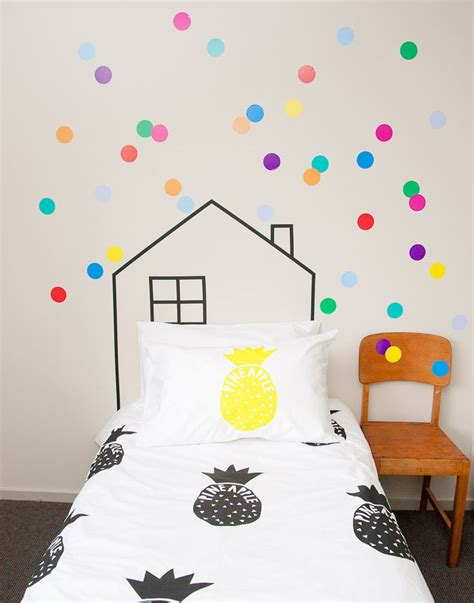 how to paint polka dots on bedroom walls simple rooms that use polka dot design twists to look adorable