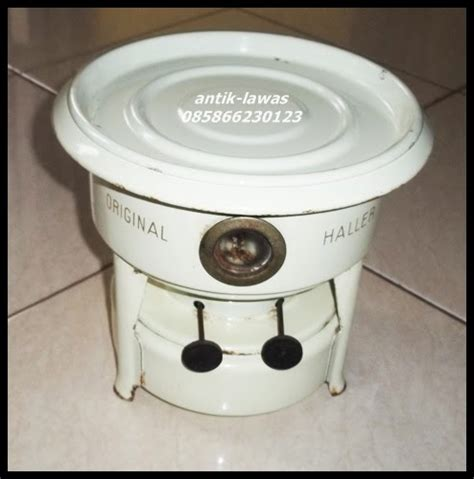 Kompor Dua Sumbu antik lawas kompor minyak tanah enamel warna putih