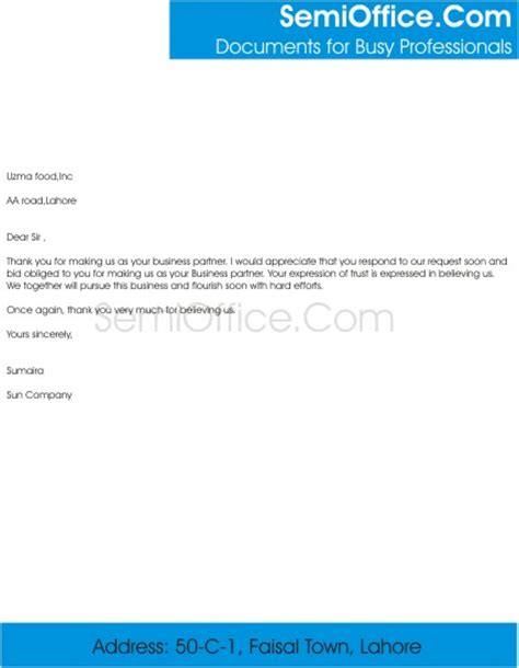 Support Letter For Business Partner Thank You Letter For Business Partnership With Gratitude For Valued Association