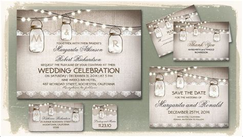 Free Mason Jar Wedding Invitation Printable Templates Rustic Wedding Website Templates