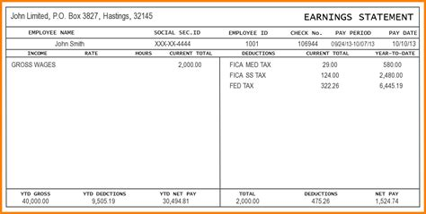 100 paystub template 4 payroll check templates