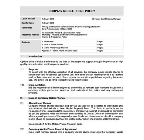 26 Policy Template Sles Free Pdf Word Format Download Free Premium Templates Policy Agreement Template