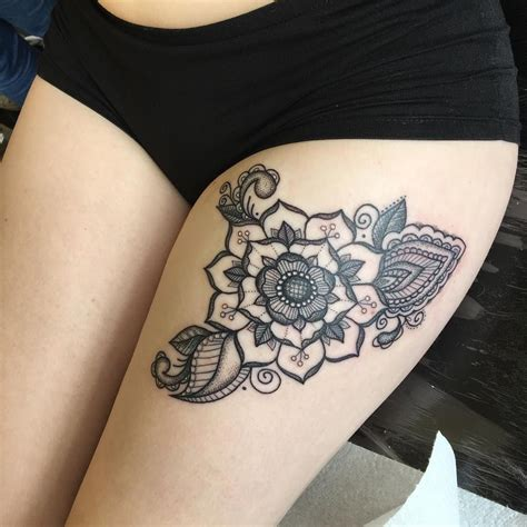yorkshire rose tattoo pictures mandala on rosa blackwork dotwork