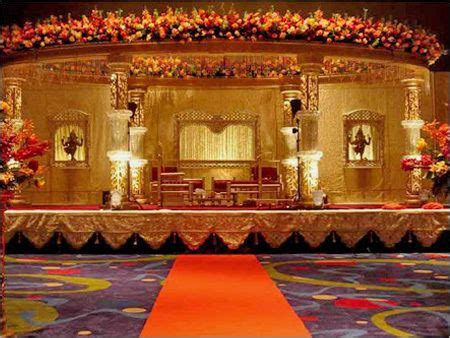 South Indian Wedding Flower Decorations by Large Floral Decorated Mandap Apoorva Reception