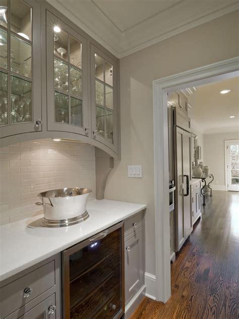 gray kitchen cabinets transitional kitchen valspar