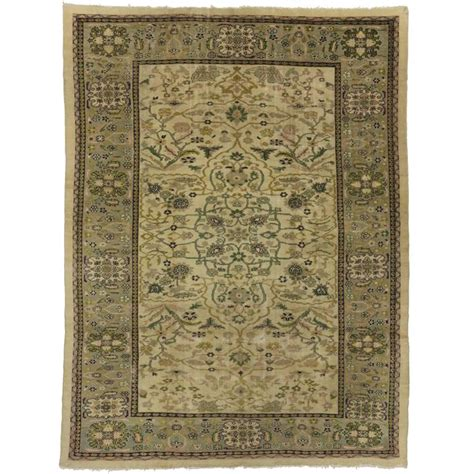 Antique Looking Area Rugs Antique Sultanabad Area Rug With Nouveau Style For Sale At 1stdibs