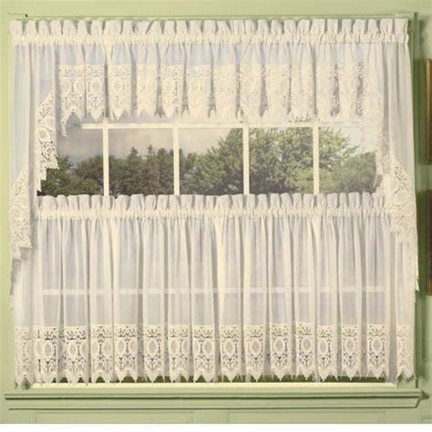lace trim curtains ivory diana lace trim kitchen tier curtain by unknown 24