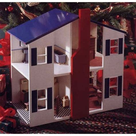 open doll house woodworking project paper plan to build open house doll house