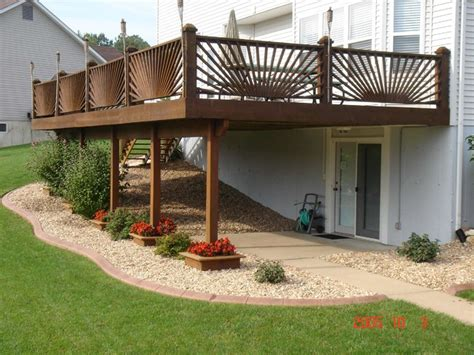 Landscape Rock Deck Residential Edging Traditional Deck St Louis By