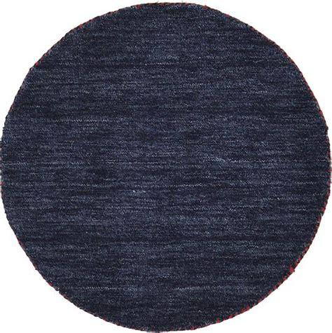 Navy Blue 70cm X 70cm Solid Gabbeh Round Rug Area Rugs Solid Navy Blue Area Rug