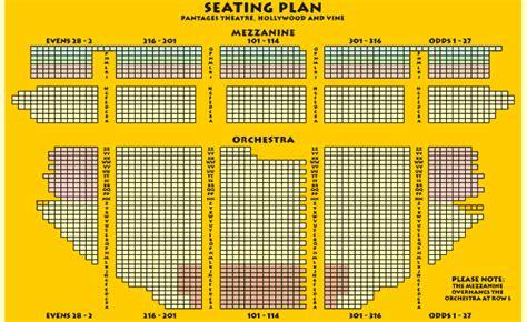 pantages seating chart pantages seating chart pantages theatre