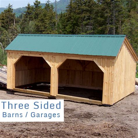 3 Sided Shed Plans Free by Wooden Barns For Sale Garage Building Kits Wood Garage