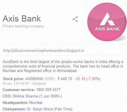 axis bank number axis bank customer care service phone number service
