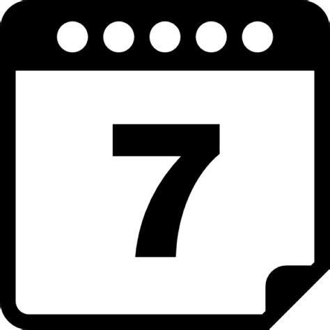 Calendrier 7 Jours Page De Calendrier Au Jour 7 T 233 L 233 Charger Icons Gratuitement