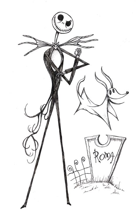 jack skellington coloring pages coloring pages
