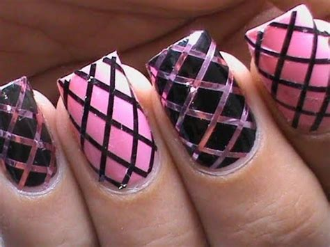 easy nail art using stripers how to use striping tape easy nail designs for