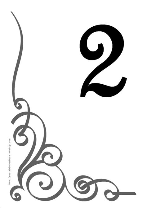 Free Flourish Printable Diy Table Numbers Free Table Numbers Photo Table Numbers Template