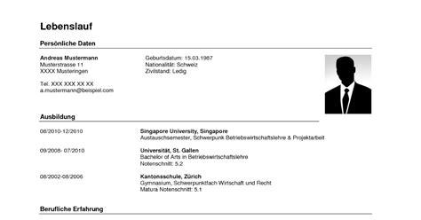 Lebenslauf Zivilstand lebenslauf vorlage schweiz dokument blogs