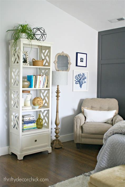 dark gray accent wall from thrifty decor chick my favorite target lighting from thrifty decor chick