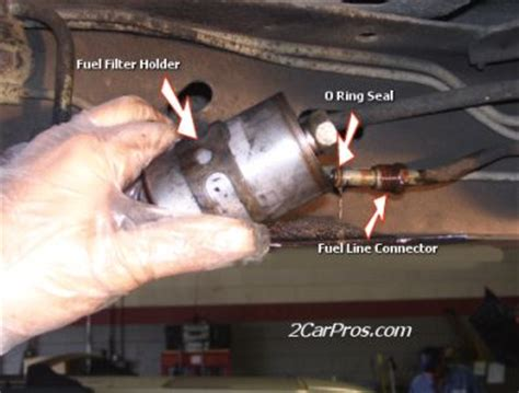 chevy caprice    fuel filter located