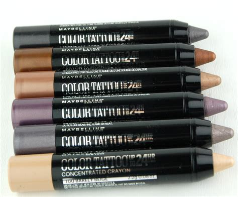 crayons tattoo maybelline color concentrated crayons swatch and