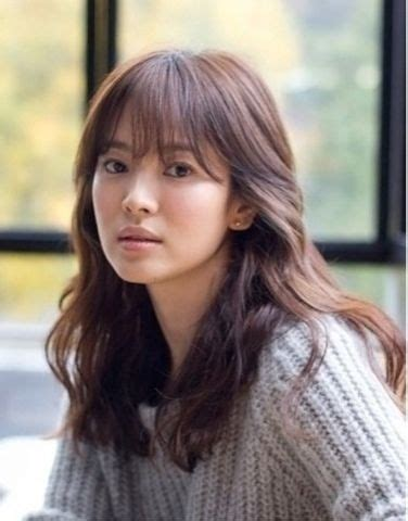 korean perm hairstyle for women see through bang style with gram perm hair pinterest