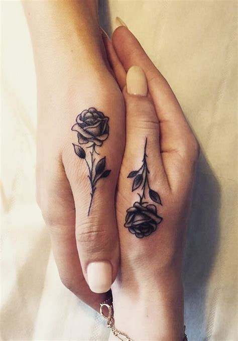 matching rose tattoos 117 of the best flower tattoos insider