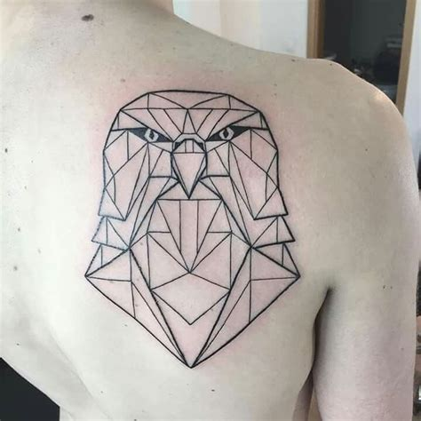 minimalist eagle tattoo geometric eagle by mike pestana tattoos pinterest