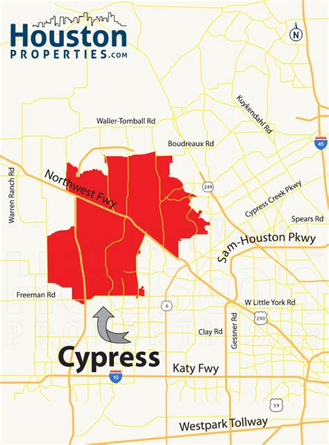 cypress texas zip code map cypress texas map