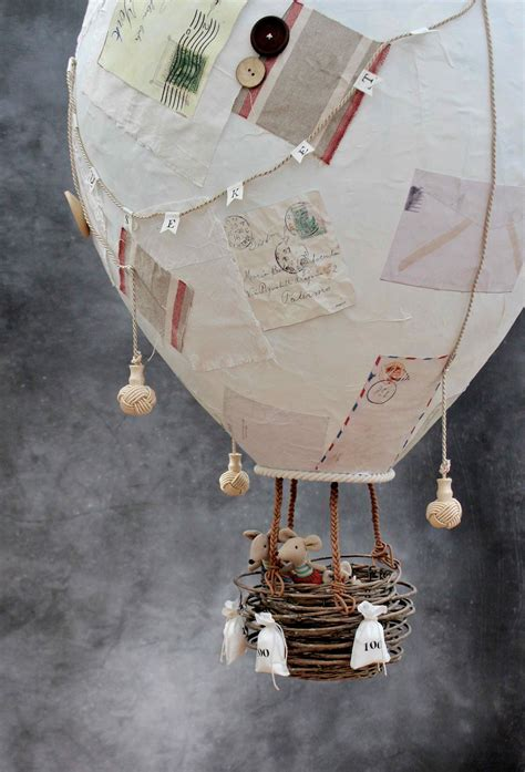 How To Make Paper Air Balloon - allez les mouseketeers or how to make a papier