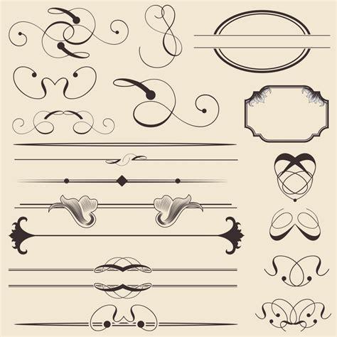 calligraphic design elements vector free download free calligraphic vectors design inspiration vexels blog