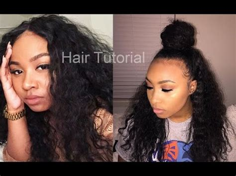 curly hairstyles half up half down youtube hairtutorial curly hair half up half down highly