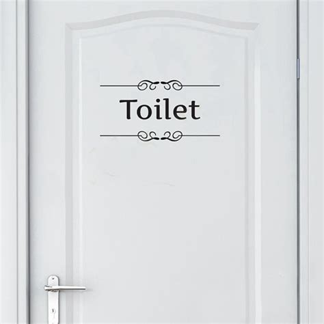 bathroom door stickers vintage bathroom signs promotion shop for promotional