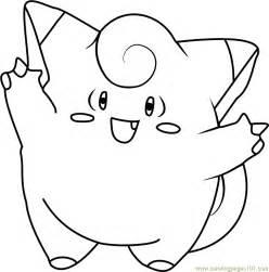 clefairy pokemon coloring page free pok 233 mon coloring