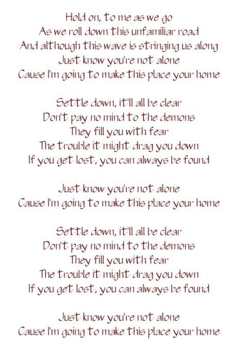 phillip phillips home chords lyrics