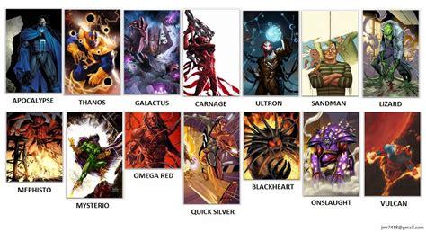list of marvel marvel heroes and villains list www imgkid the