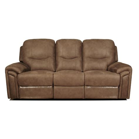 Light Brown Leather Recliner by Medina Recliner 3 Seater Sofa In Light Brown Leather Look