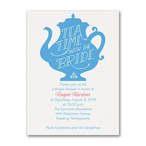Tea Bridal Shower Invitations by Tea Time Bridal Shower Invitation Gt Bridal Shower Invitations Carlson Craft Wedding
