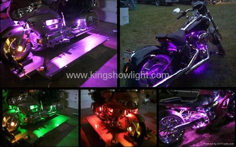 6pc Purple Led Led Kit Motorcycle Lights