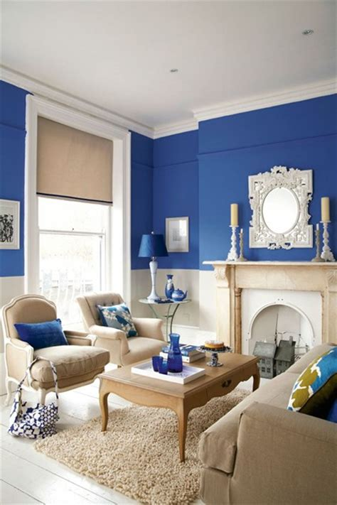 blue walls in living room bright blue living room furniture designs decorating