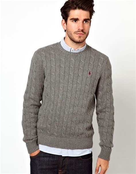polo ralph cable knit jumper polo ralph polo ralph jumper in cable knit