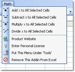 Offices Add Subtract by Excel Add Subtract Multiply Divide All Cells
