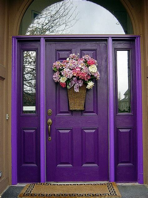 purple front door purple front door design decoist