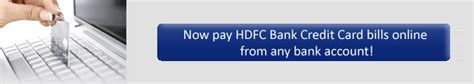 make credit card payment hdfc hdfc bank credit card