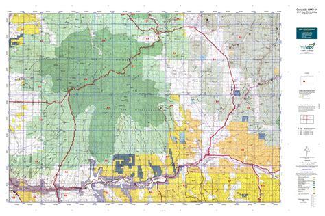 colorado elk unit map colorado gmu 54 map mytopo