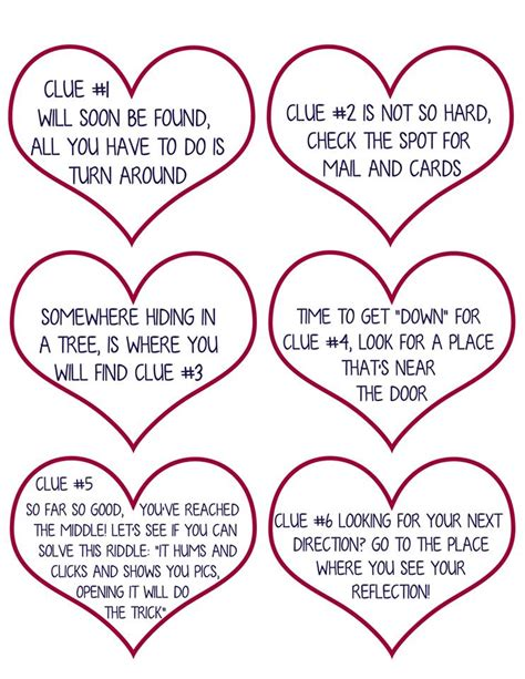 valentines day scavenger hunt clues scavenger hunt for free printable clues
