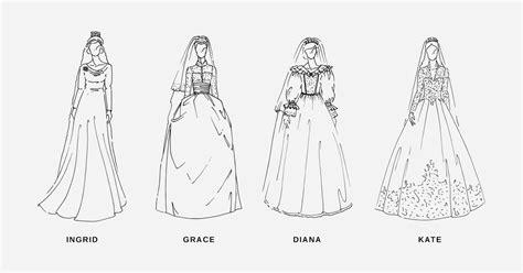 Brautkleider Zeichnen Lernen by Royale Hochzeitskleider Der Letzten 100 Jahre